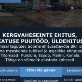 Töö Soomes: kergvaheseinte ehitus, katuse puutööd, üldehitus-1